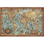 RayWorld Mapa do mundo moderno em estilo antigo da