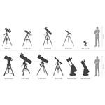 Telescopul Dobson are o inaltime de aproximativ 130cm