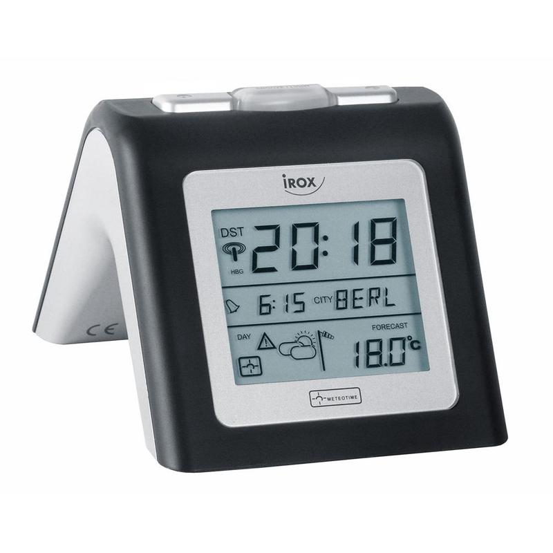 irox wireless weather station personal meteo clock mete on 3 b. Black Bedroom Furniture Sets. Home Design Ideas