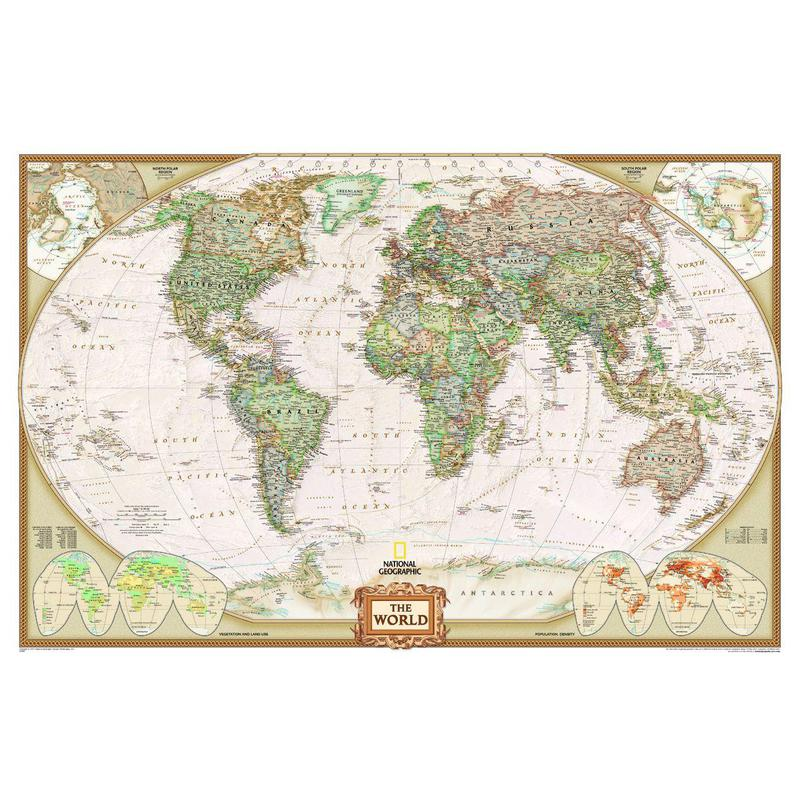 National geographic antique world map political very large format gumiabroncs Choice Image