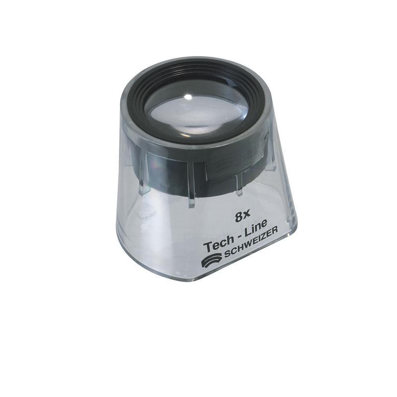 Schweizer Magnifying Glass Tech Line Fixed Focus 8x Mounted Magnifier