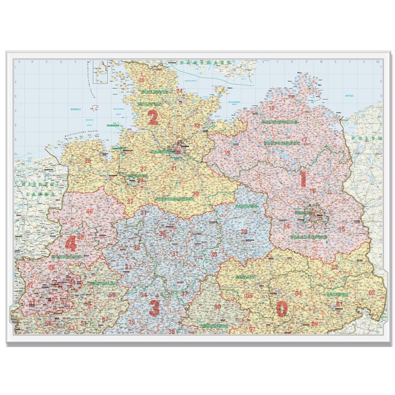 Carte Allemagne Code Postaux.Bacher Verlag Carte Des Codes Postaux Allemagne Du Nord 1