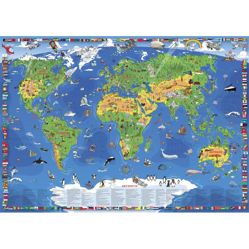 Wenschow verlag childrens world map xxl german gumiabroncs Choice Image