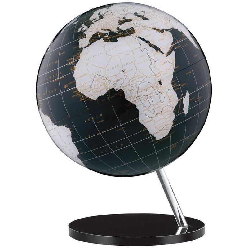 columbus globe terrestre couleur onyx pied courb 713008. Black Bedroom Furniture Sets. Home Design Ideas