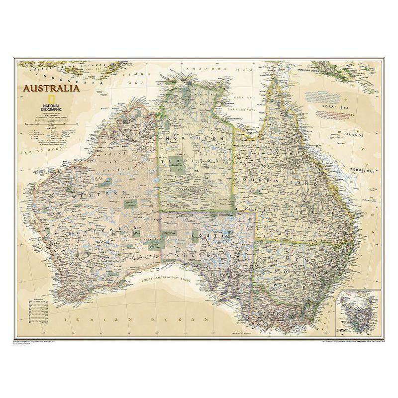 National Geographic Mapa antiguo de : Australia
