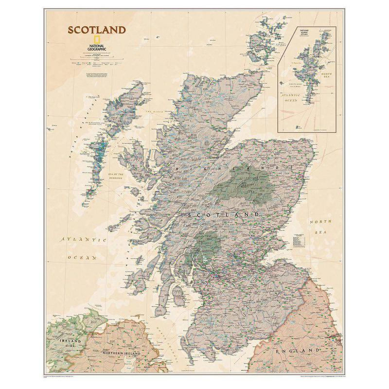 national geographic map scotland