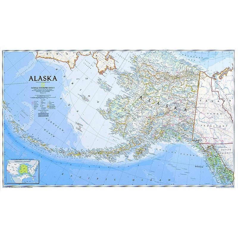 National Geographic Map Alaska