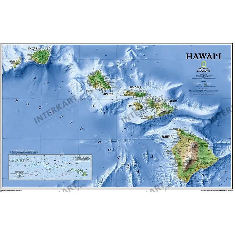 National Geographic Harta Hawaii