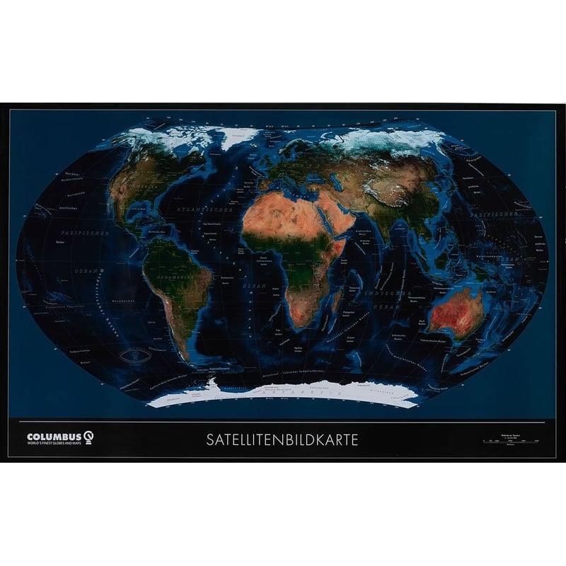 Columbus Twkgf2520bl Large Format Satellite Political World Map