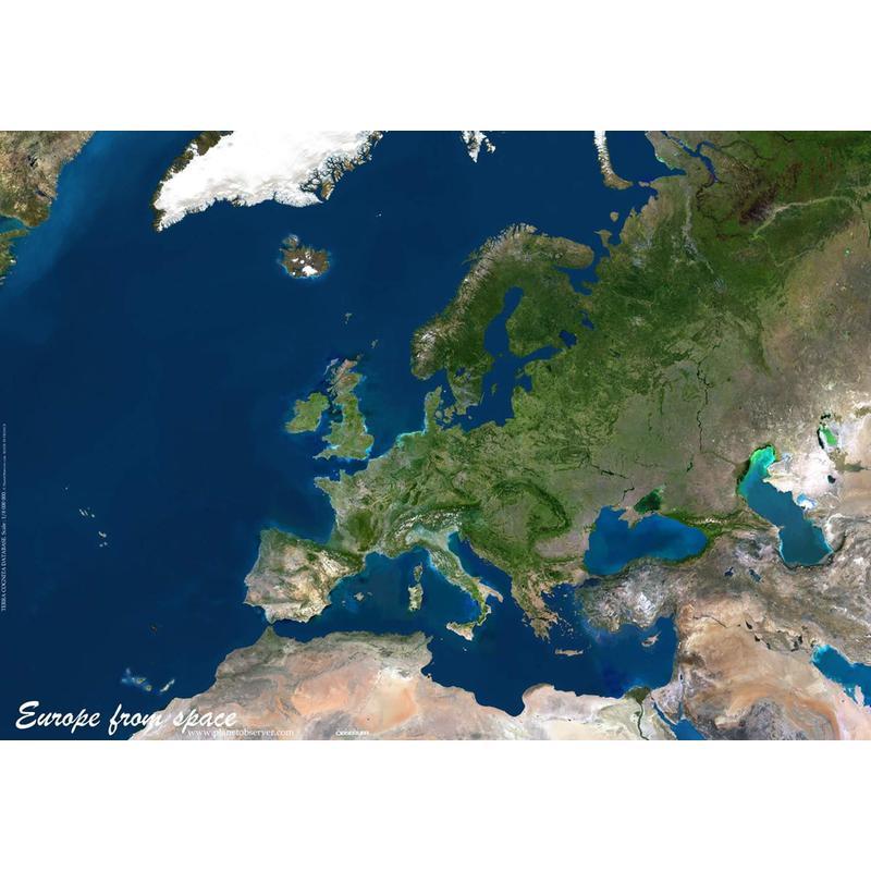 Planet Observer Mapa Da Europa Pelo Observador Do Planeta