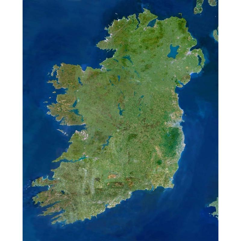 Satellite Map Of Ireland.Planet Observer Map Ireland