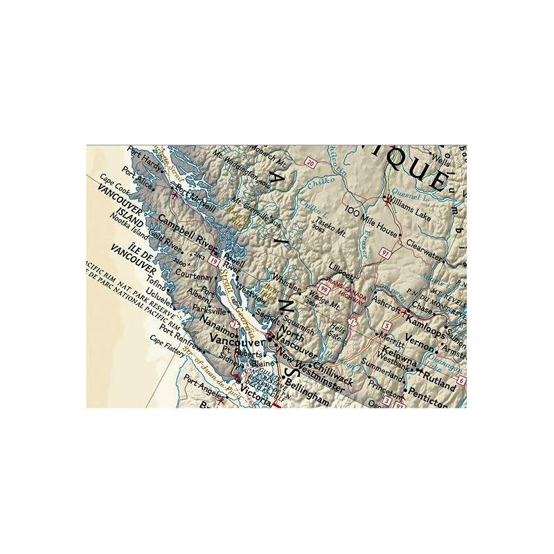National geographic antique map of canada laminated sciox Image collections