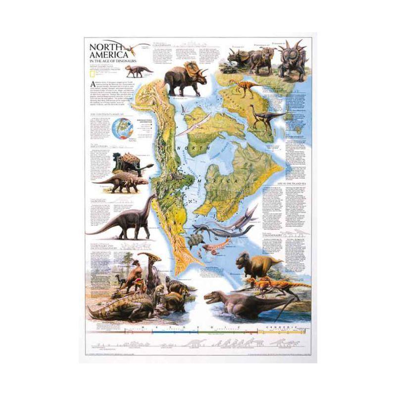 National geographic map dinosaur of north america for America s best contacts coupons