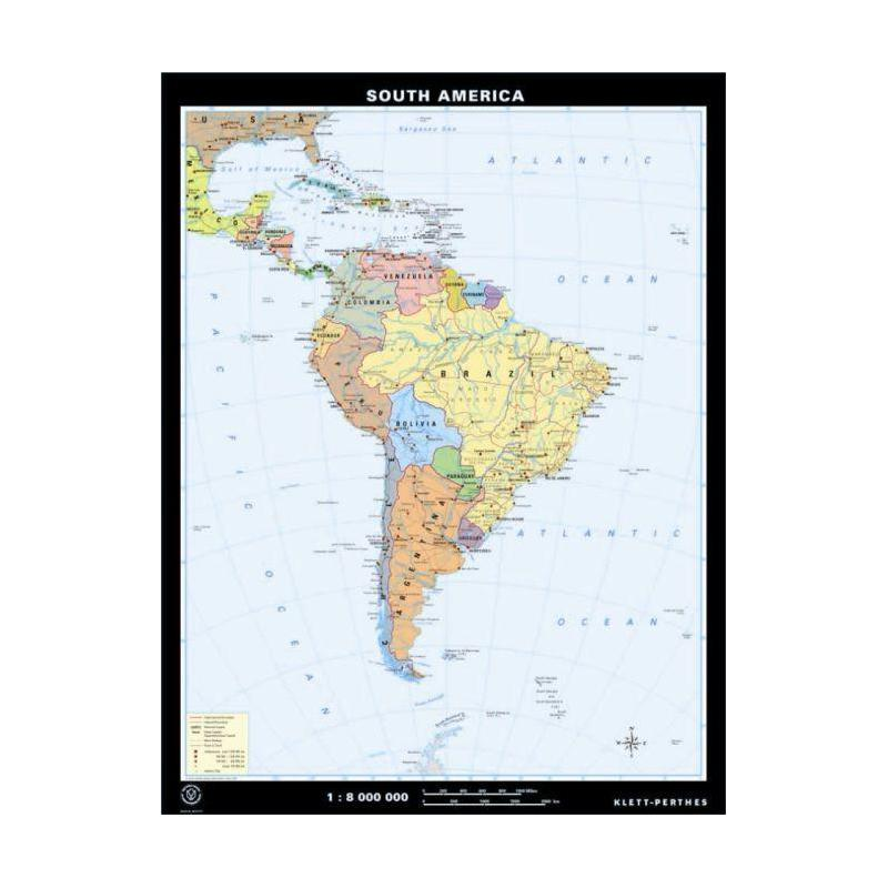 Klett-Perthes Verlag Continent map South America physical ... on physical features of america, greenland canada maps of the america's, civilization map america's,