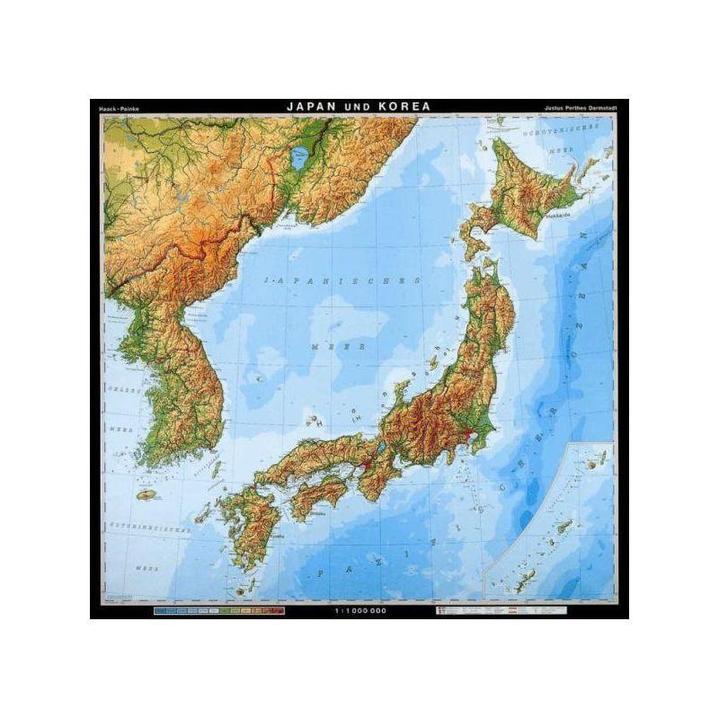 Karte japan physisch