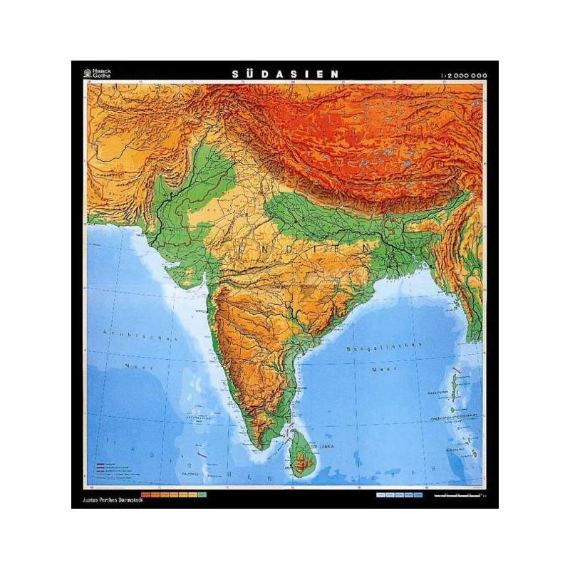Südasien Karte.Klett Perthes Verlag Landkarte Südasien Indien Physisch