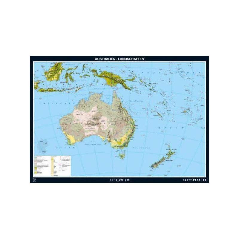 Map Of Australian Landscapes.Klett Perthes Verlag Continent Map Australia Landscapes