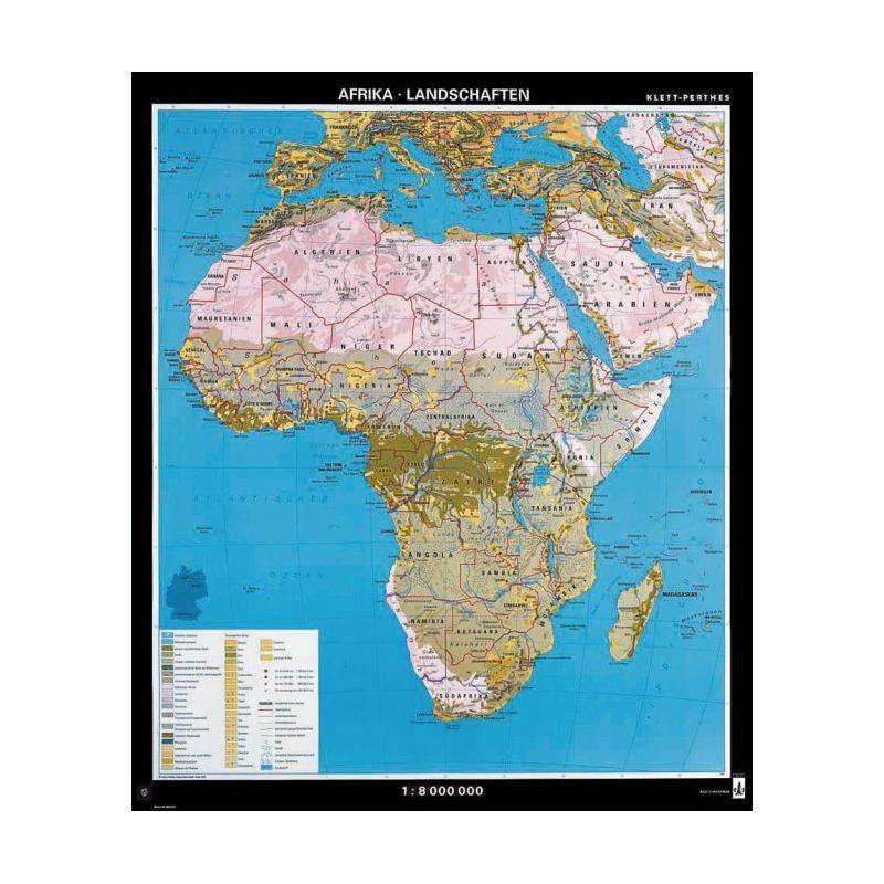Karte Afrika.Klett Perthes Verlag Kontinent Karte Afrika Landschaften