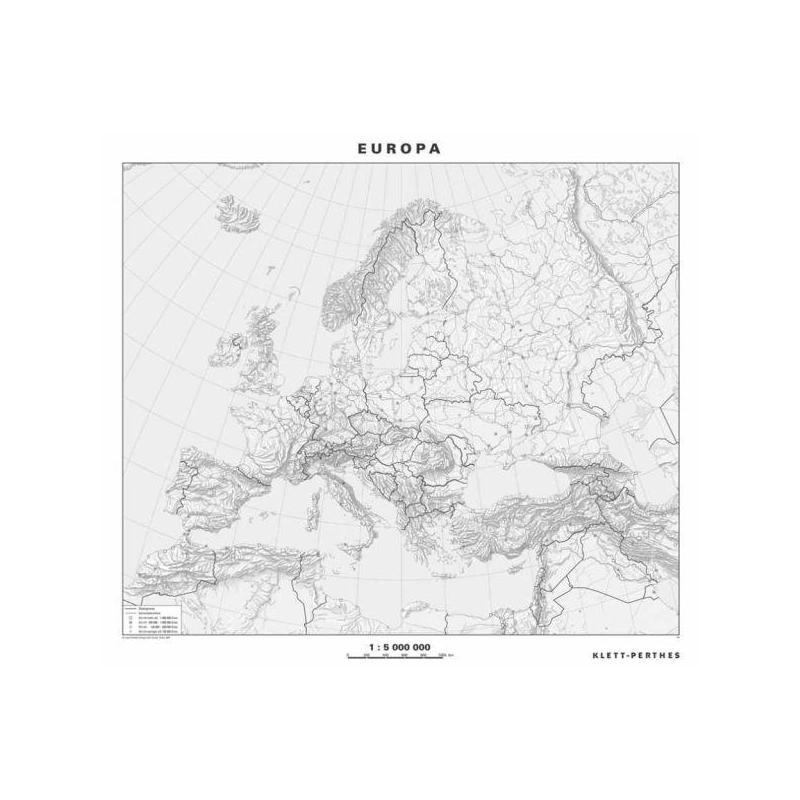 Europa Karte Physisch.Klett Perthes Verlag Kontinent Karte Europa Physisch Stumm P 2