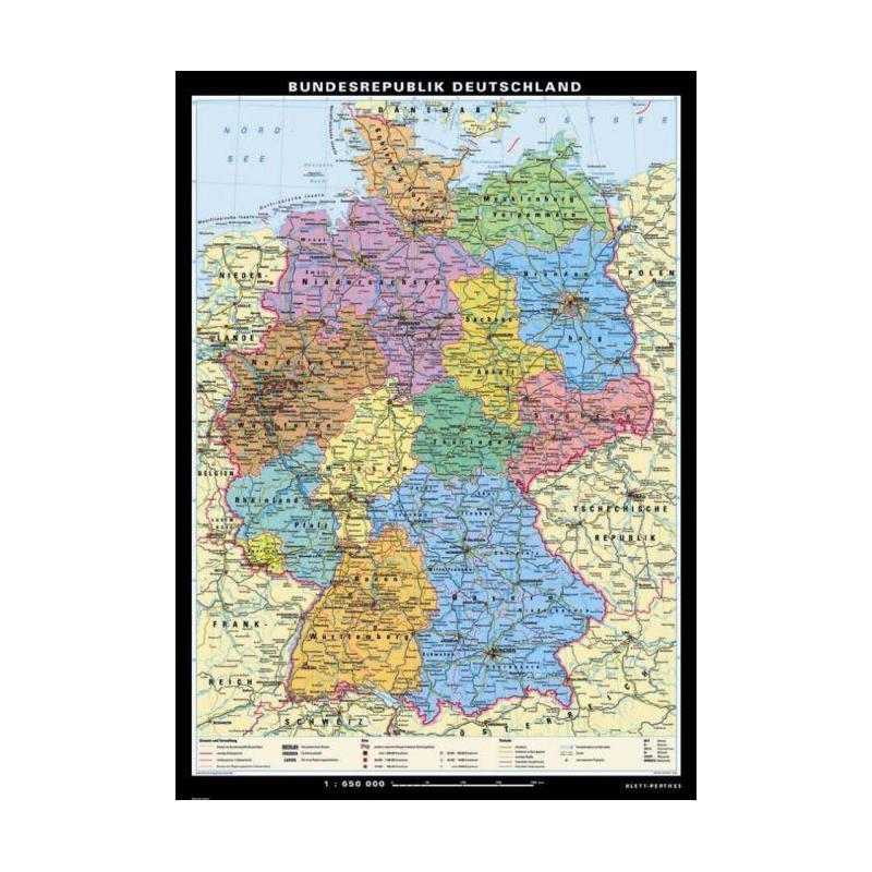 Carte Allemagne Geographique.Carte Geographique Klett Perthes Verlag Allemagne Politique