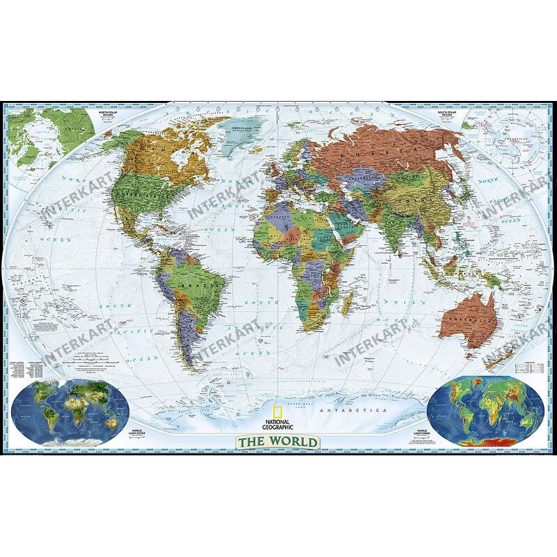 National Geographic Decorative map of the world political, large on europe shaded on a world map, national geographic world mural map, national geographic language world map, national geographic world map wallpaper, national geographic framed world map, national geographic large world map,