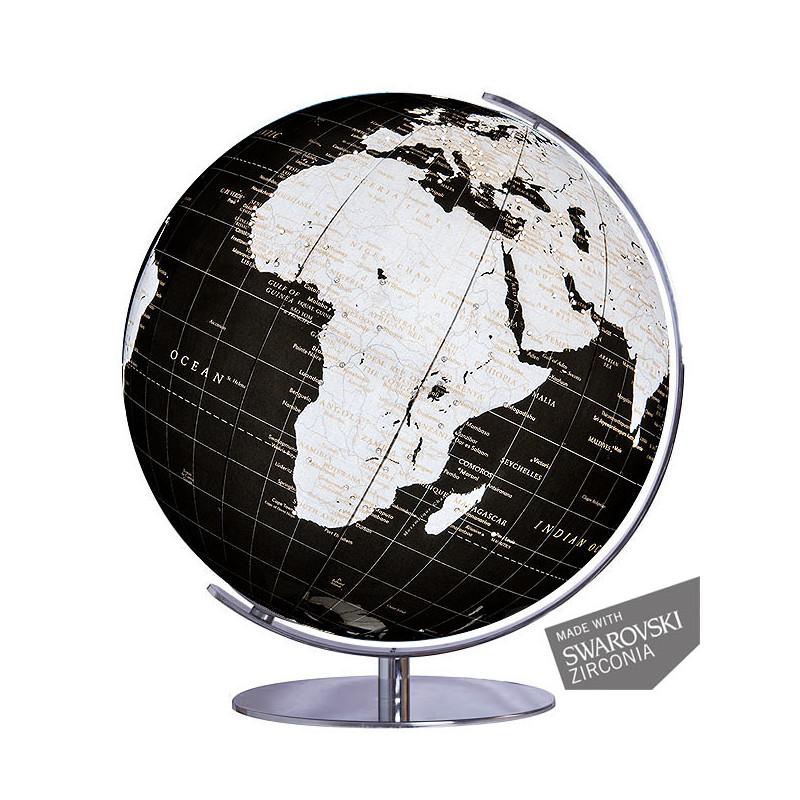 columbus globe terrestre swarovski zirconia onyx 731485. Black Bedroom Furniture Sets. Home Design Ideas