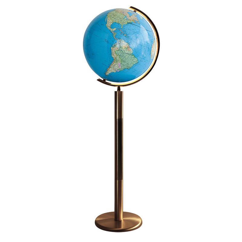 columbus globe terrestre duo sur socle laiton compatible. Black Bedroom Furniture Sets. Home Design Ideas