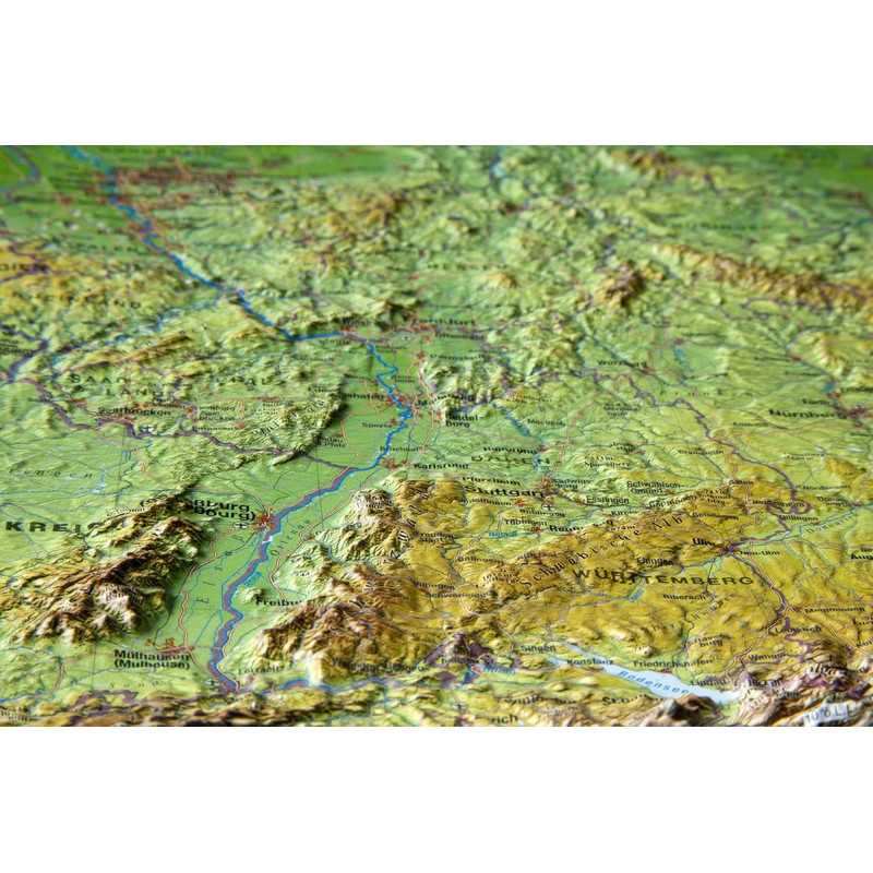 Map Of Germany 3d.Georelief 3d Relief Map Of Germany Small In German