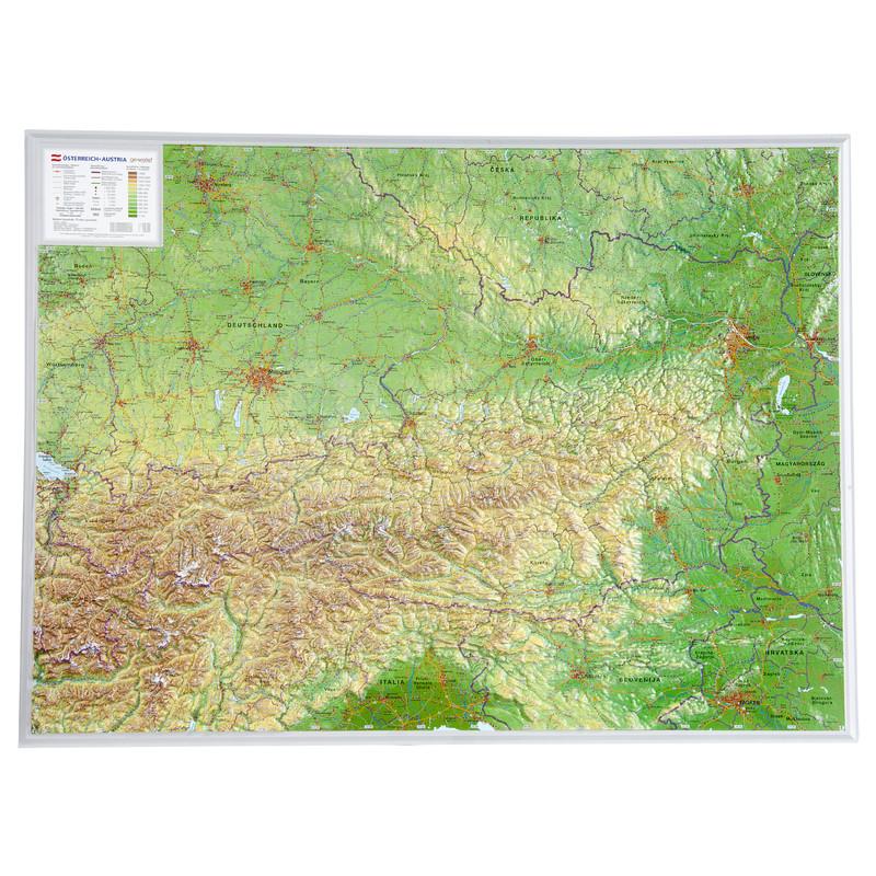 3d Karte Osterreich.Georelief Osterreich Gross 3d Reliefkarte