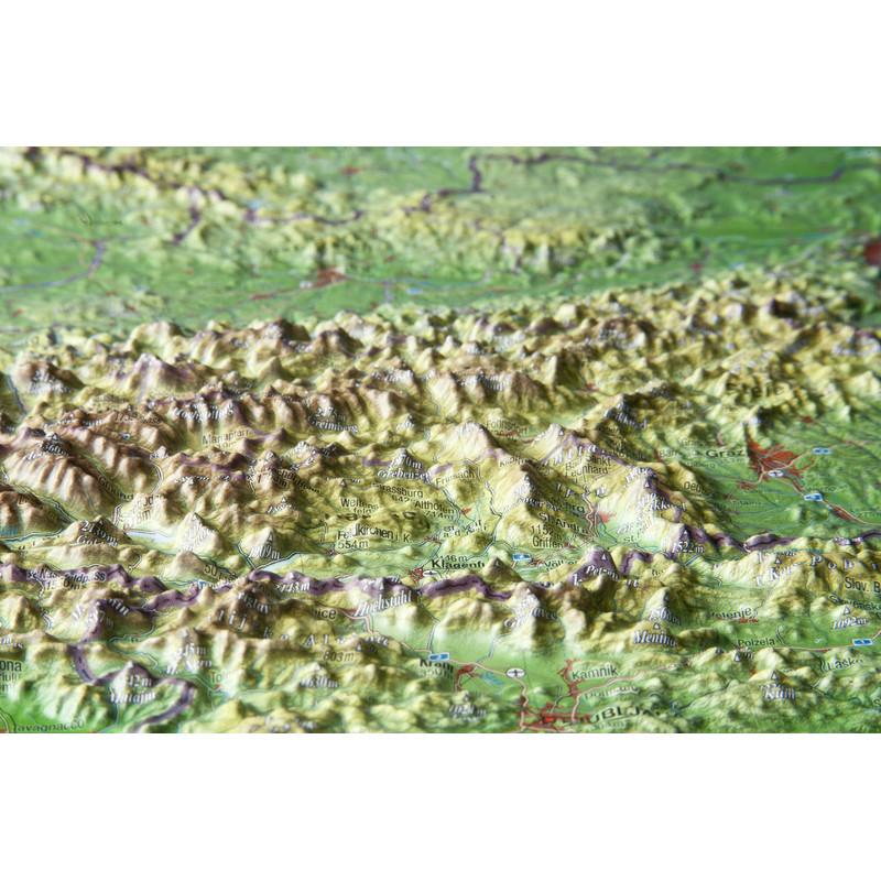 3d Karte Osterreich.Georelief Osterreich Klein 3d Reliefkarte