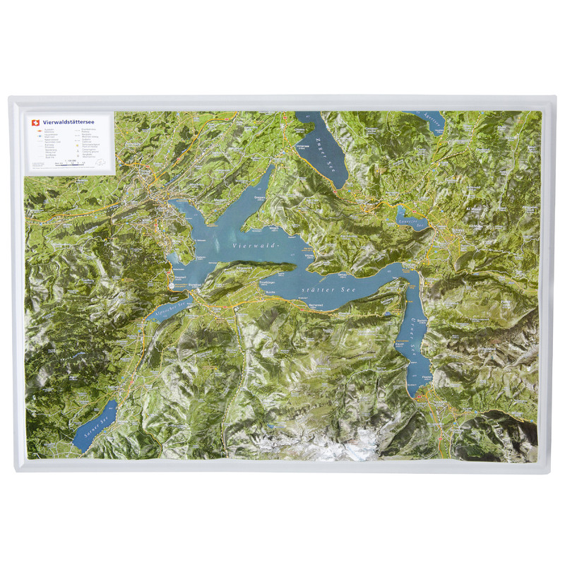Georelief 3d map lake lucerne in german for House map 3d