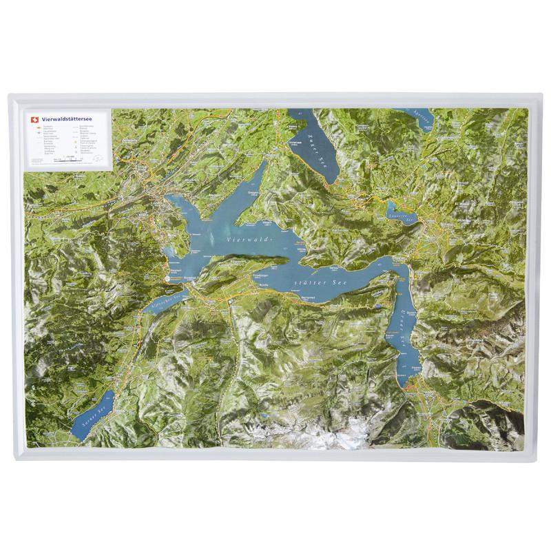 Georelief 3d Map Lake Lucerne In German