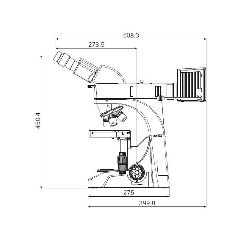 Motic microscpio ba310 met t binocular microscope 3 x2 ccuart Images