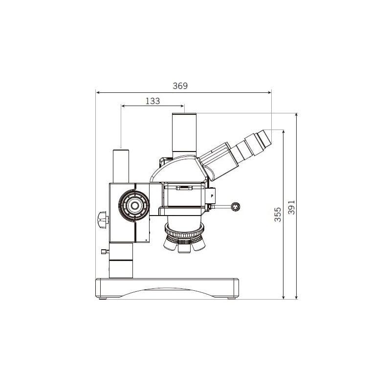 Binocular Microscope Drawing