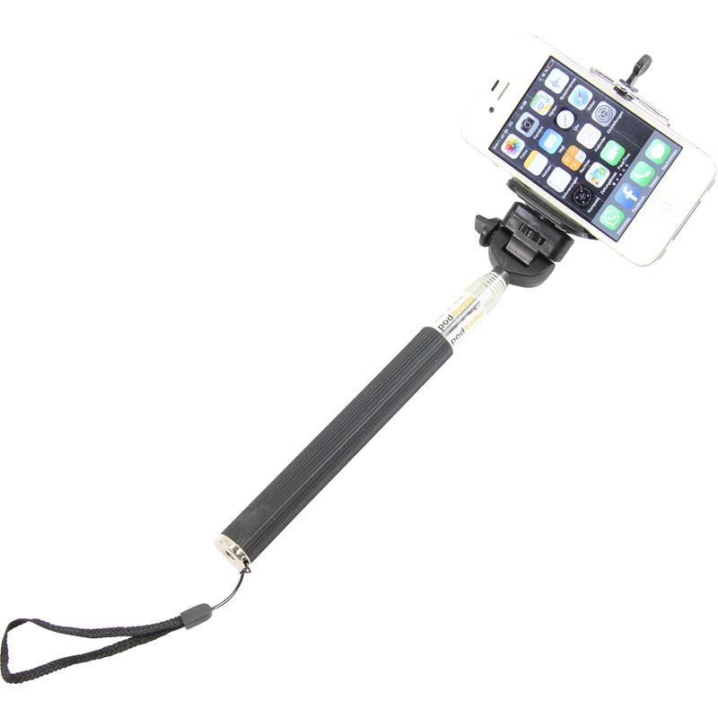 aluminium einbeinstativ selfie stick f r smartphones und. Black Bedroom Furniture Sets. Home Design Ideas