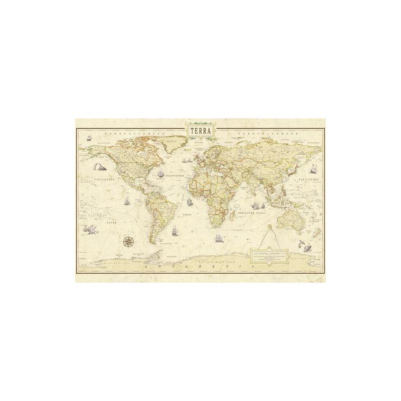 Carte du monde version renaissance