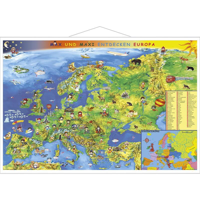Stiefel Carte Europe Pour Enfants Avec Cadre En Metal