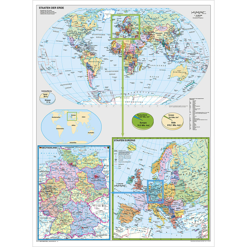 Map Of Deutschland Germany.Stiefel Map Of Germany And Europe In The World In German