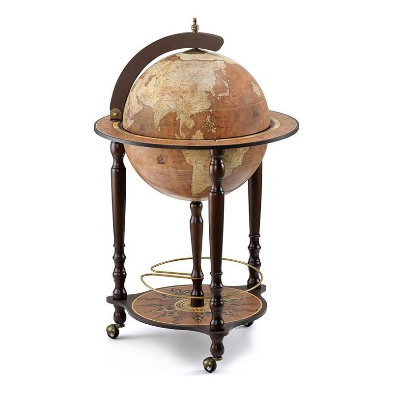 Zoffoli globe da vinci rust sur pieds roulette avec - Range bouteille roulette ...