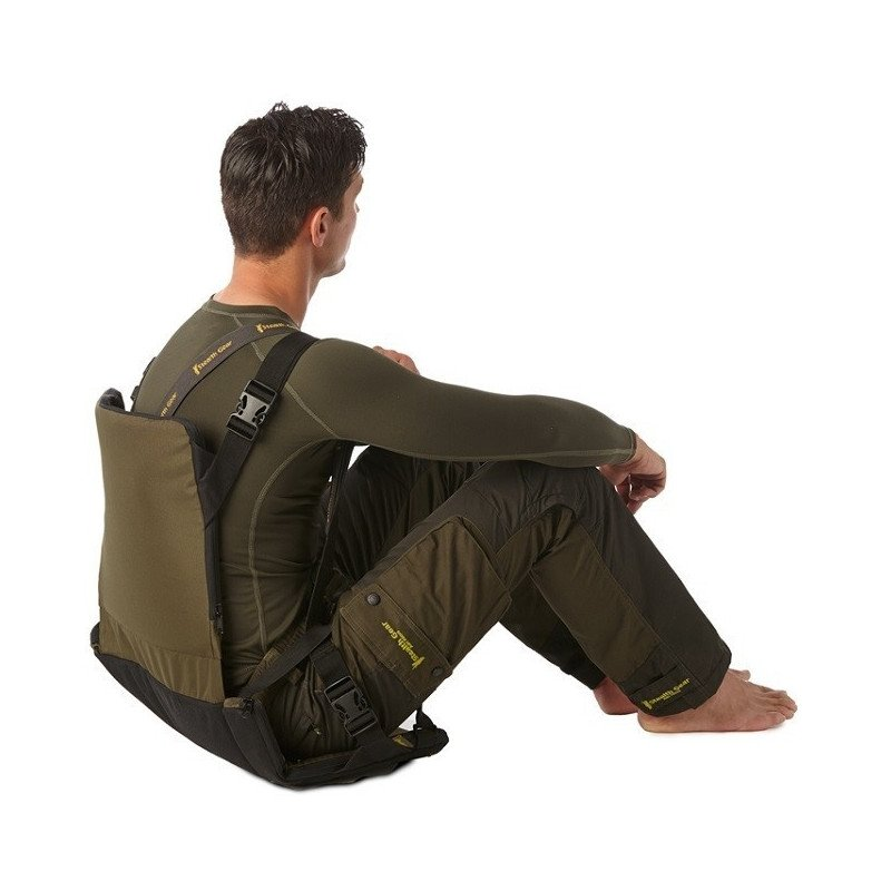stealth gear sitzkissen mit r ckenlehne faltbar gr n. Black Bedroom Furniture Sets. Home Design Ideas