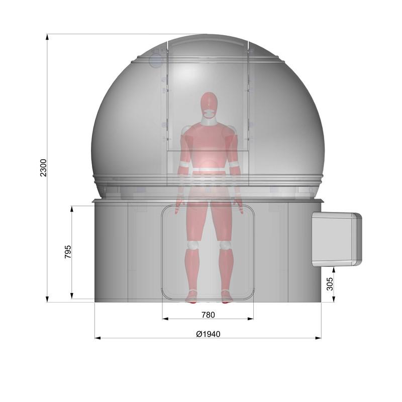 Omegon sternwarten kuppel 2m durchmesser h80 for Stahlwandbecken 2 m durchmesser