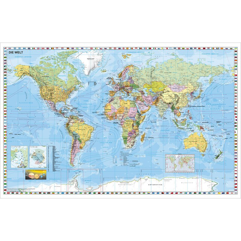 Stiefel world map large format can be written on and wiped clean stiefel world map large format can be written on and wiped clean extremely tear resistant german sciox Gallery