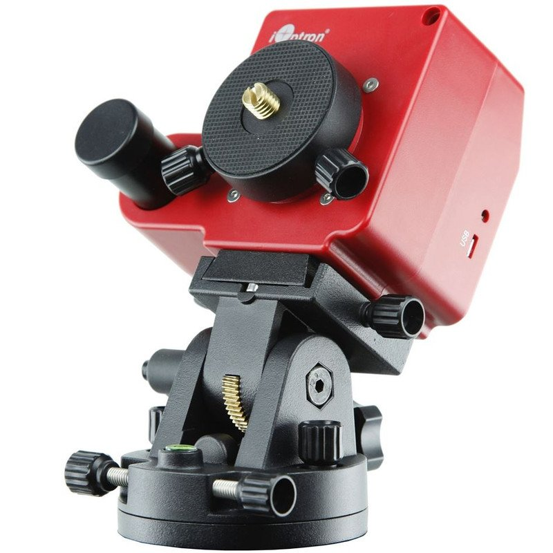 The iOptron Mount SkyTracker Pro is popular on astro-trips and weighs only 1.1kg.