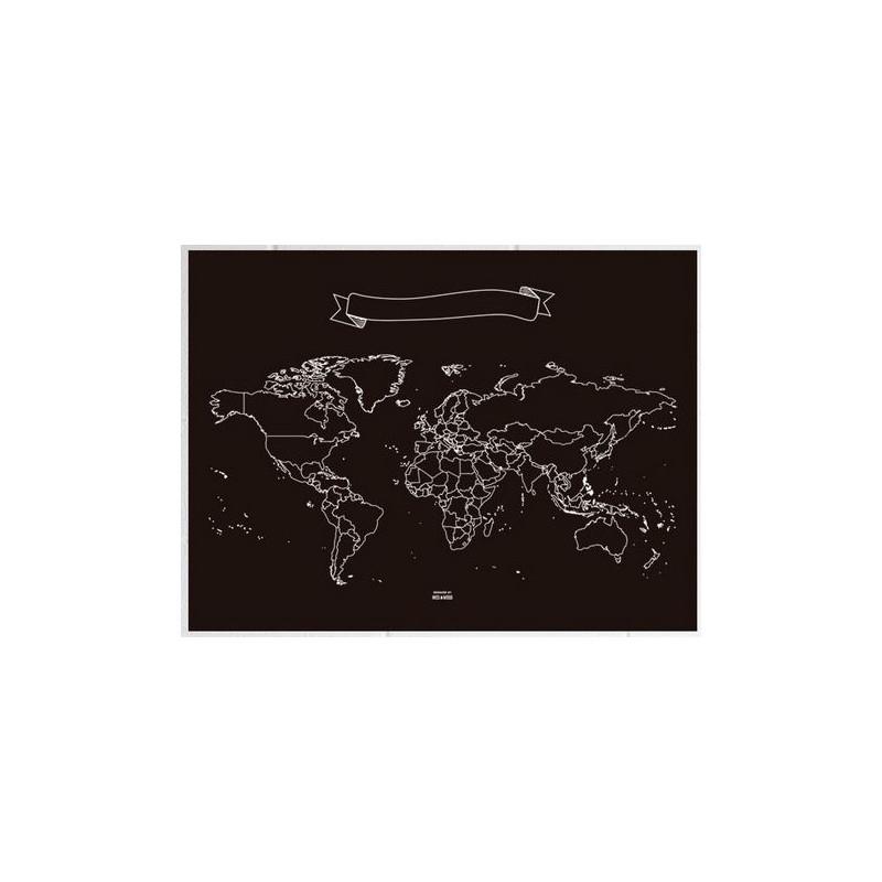 miss wood world map chalkboard xl