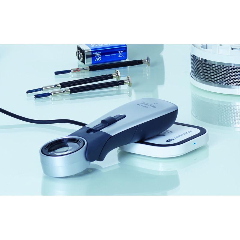 schweizer lupe tech line induktion 2700k 10x 22 8mm aplanatisch. Black Bedroom Furniture Sets. Home Design Ideas