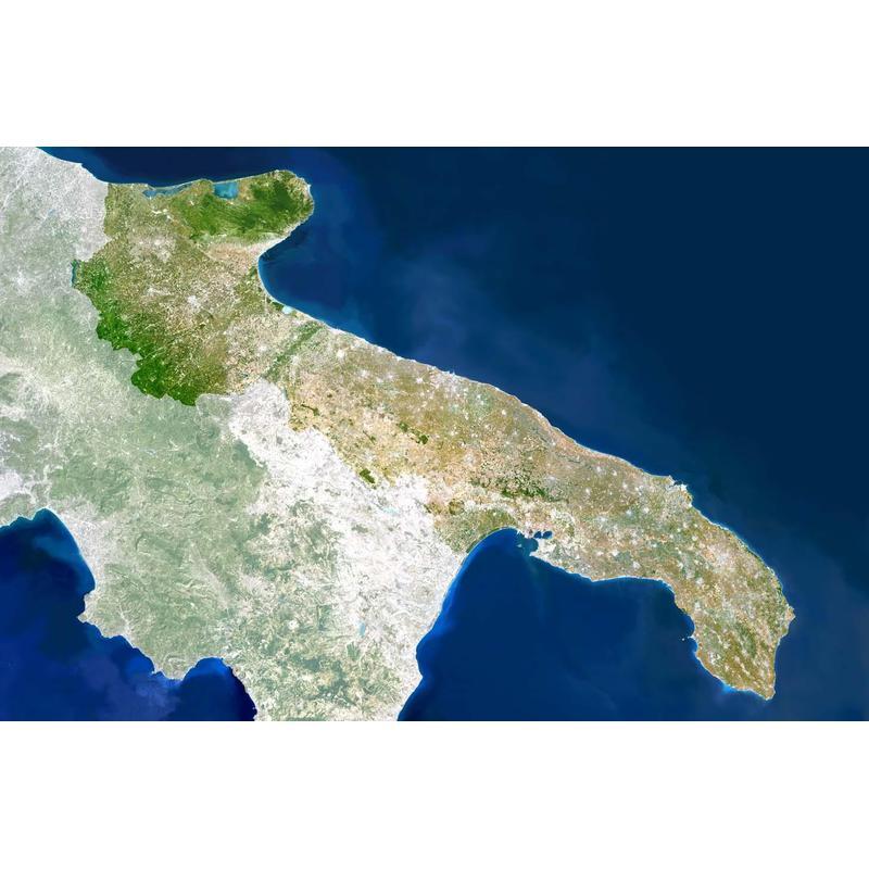 Map Of Italy Puglia Region.Planet Observer Regional Map Region Puglia