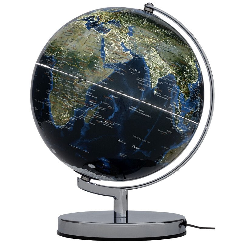 Terra Earth Map.Emform Globe Terra City Light 24cm
