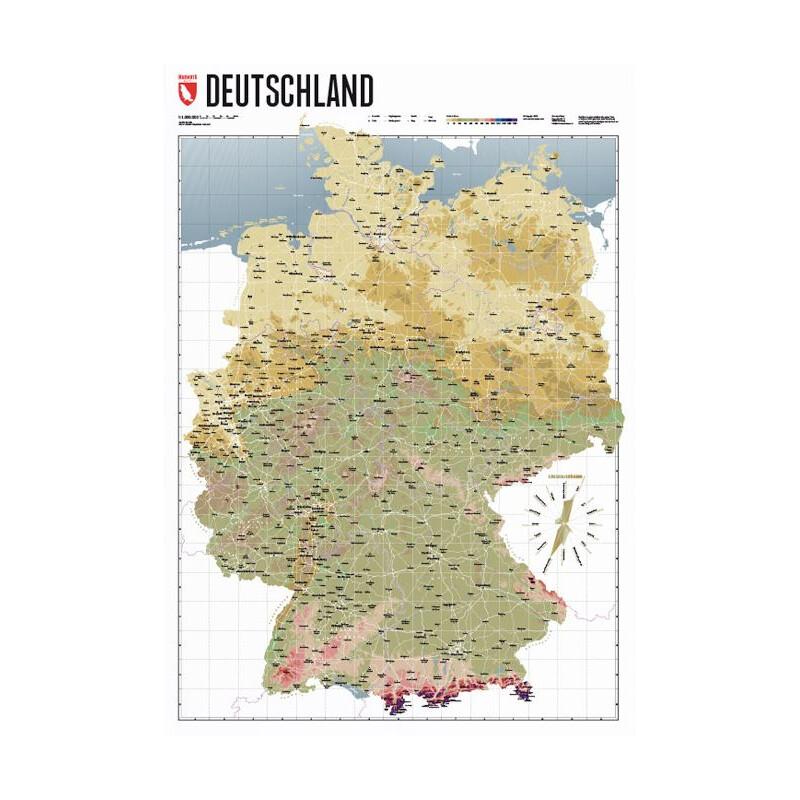 Marmota Maps Deutschlandkarte Atlas Retro