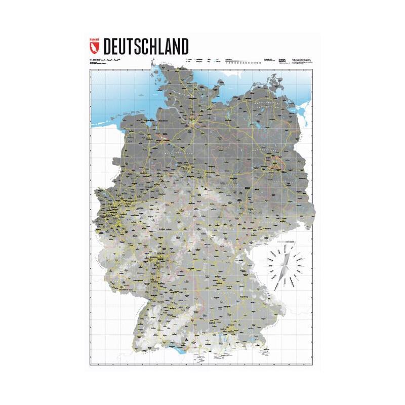 Marmota Maps Deutschlandkarte Map Grey