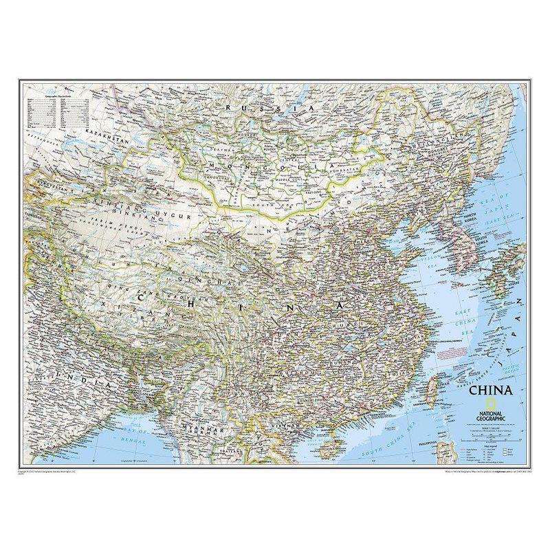 National Geographic Countries map China